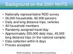 background on the 2001 nhts