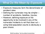 what do we mean by exposure