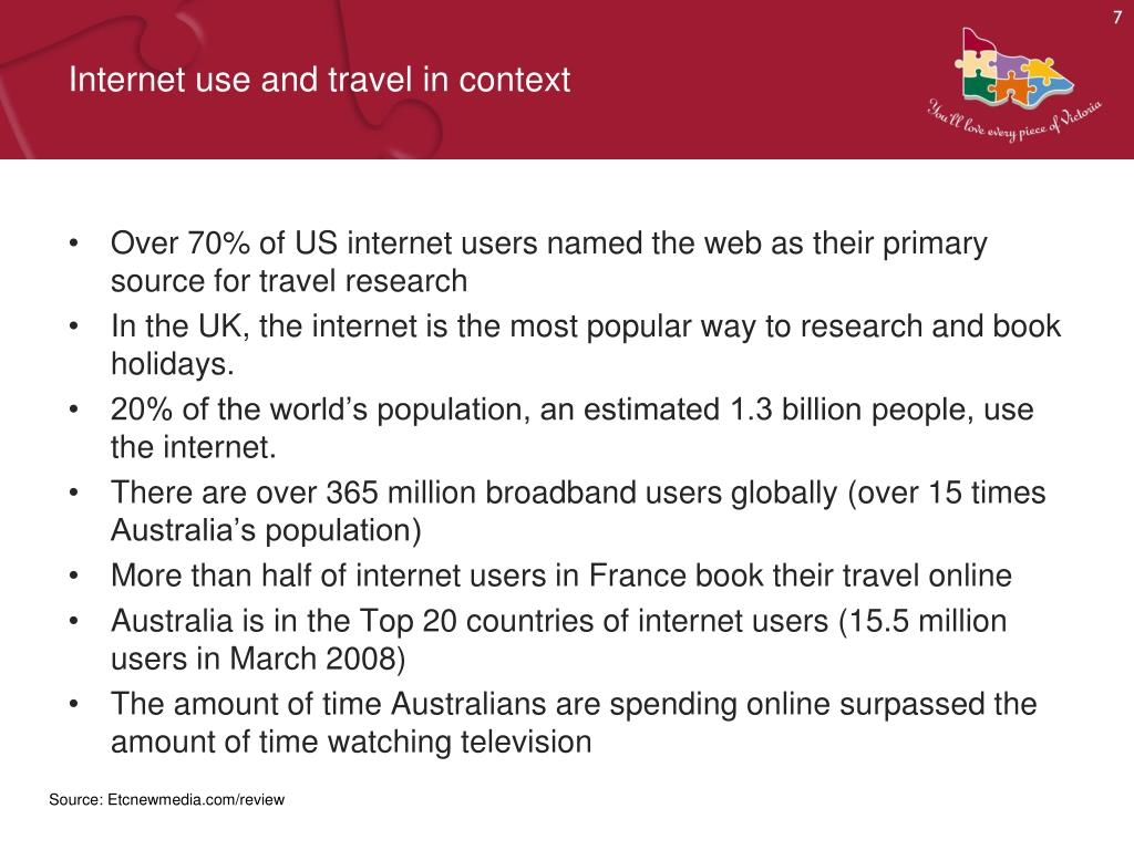 Internet use and travel in context