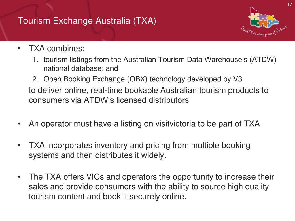 Tourism Exchange Australia (TXA)