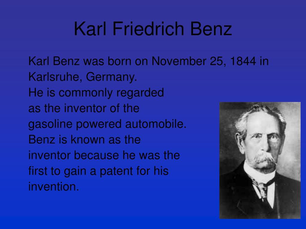 Karl Benz: Karl Benz PowerPoint Presentation