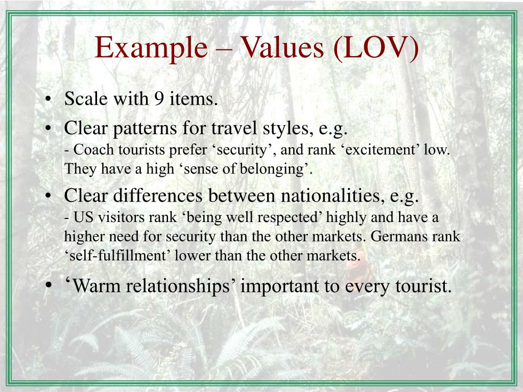 Example – Values (LOV)