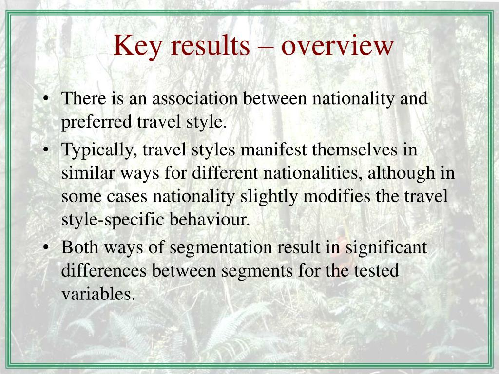 Key results – overview