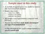 sample used in this study