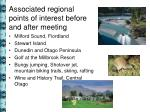 associated regional points of interest before and after meeting