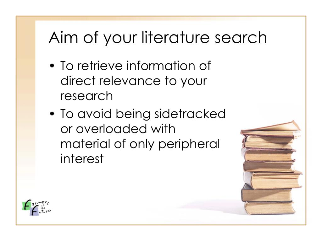 Aim of your literature search