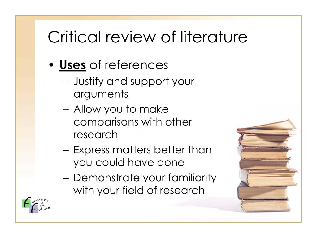 Critical review of literature
