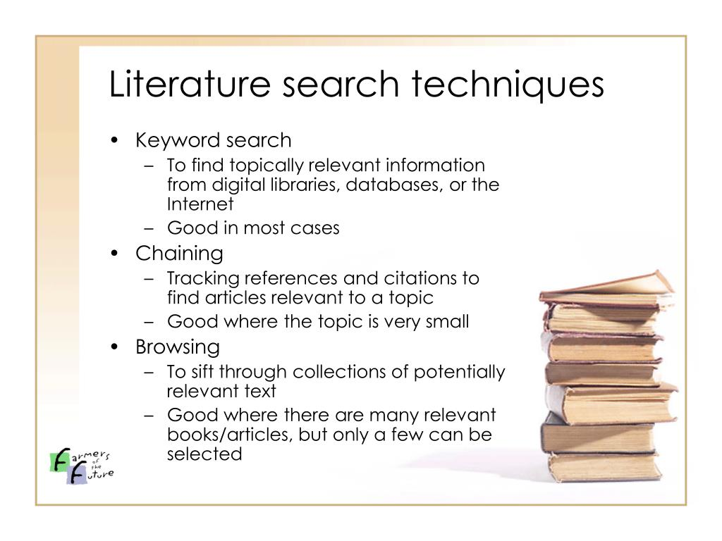 Literature search techniques
