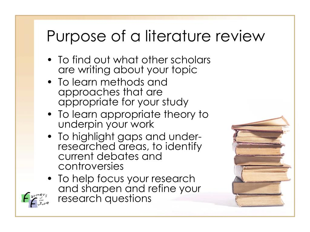 Purpose of a literature review