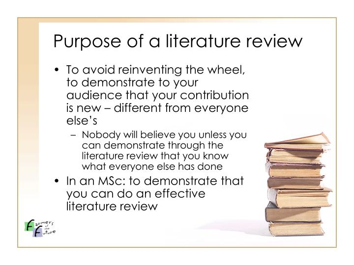 Purpose of a literature review3