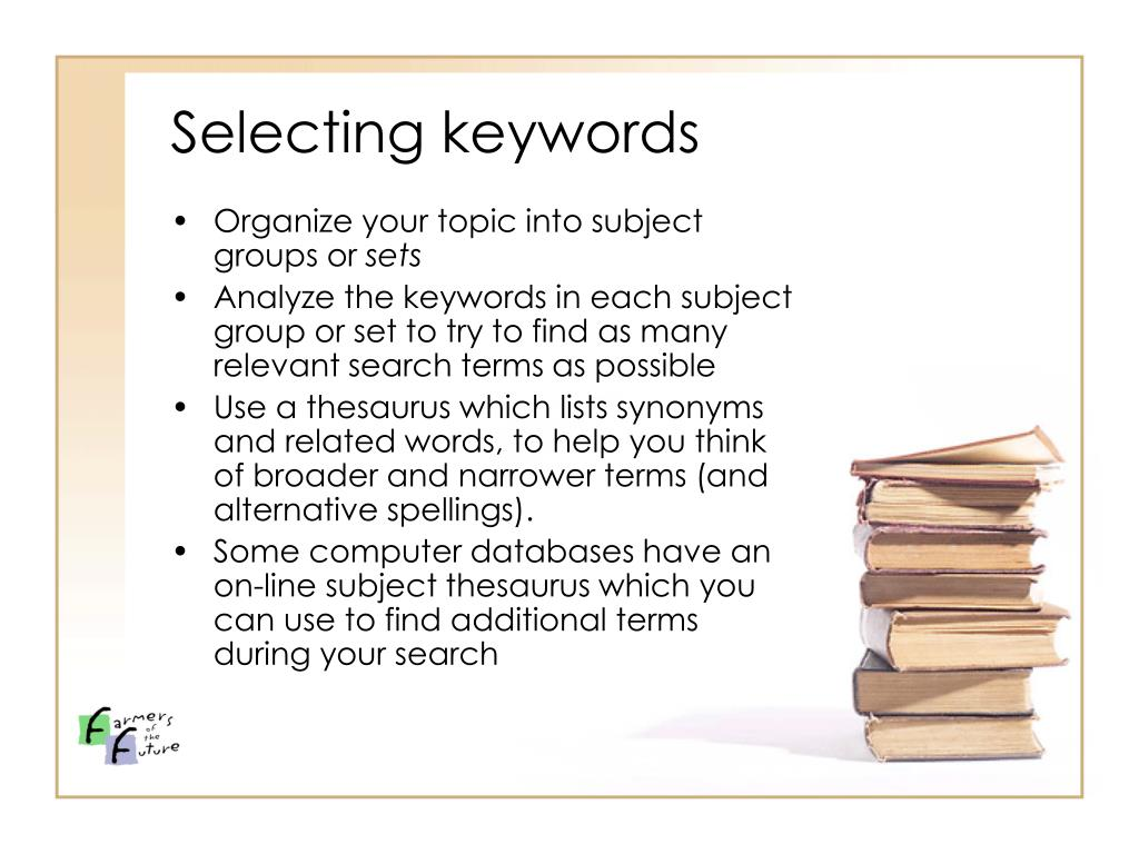 Selecting keywords
