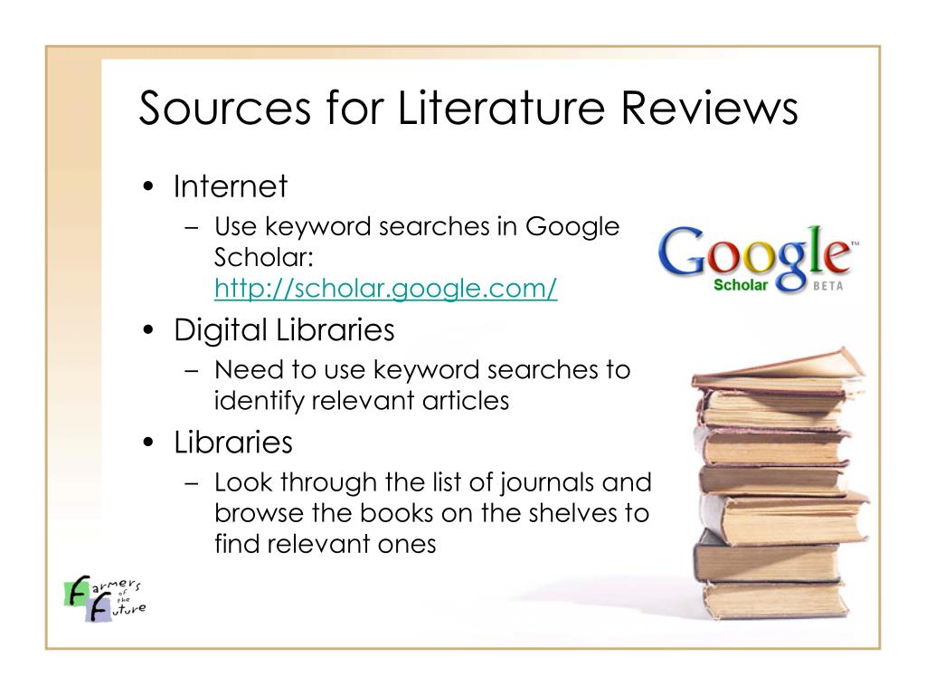 Sources for Literature Reviews