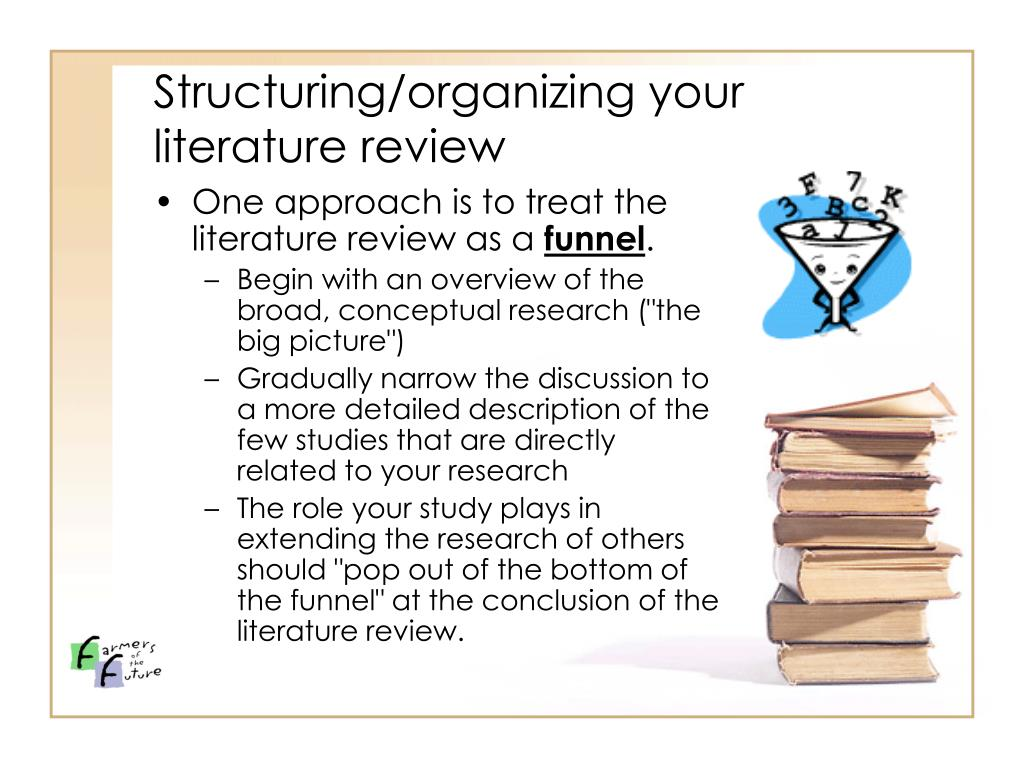 Structuring/organizing your literature review