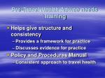 pre travel health advice needs training