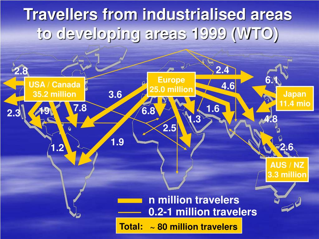 Travellers from industrialised areas