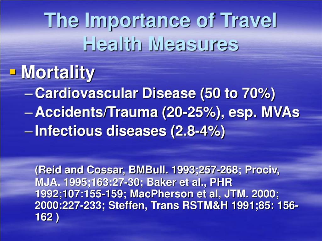 The Importance of Travel Health Measures