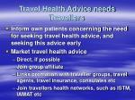 travel health advice needs travellers48