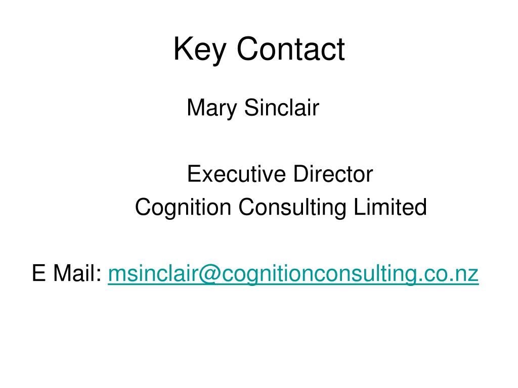 Key Contact