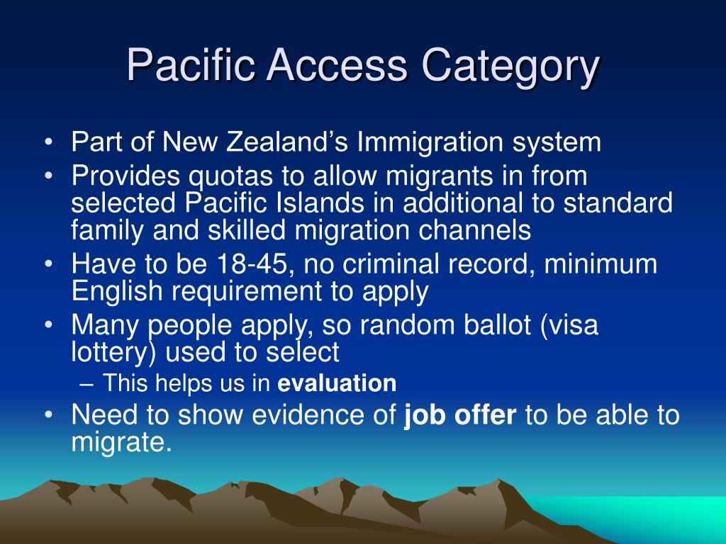 Pacific Access Category