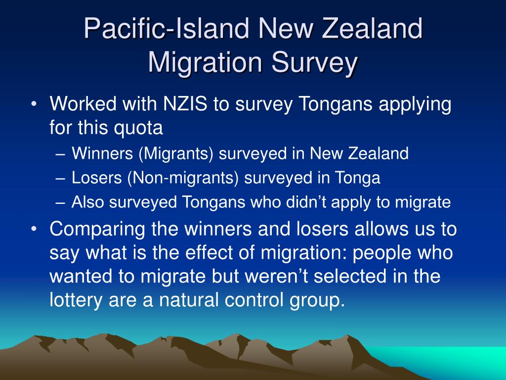 Pacific-Island New Zealand Migration Survey