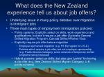 what does the new zealand experience tell us about job offers