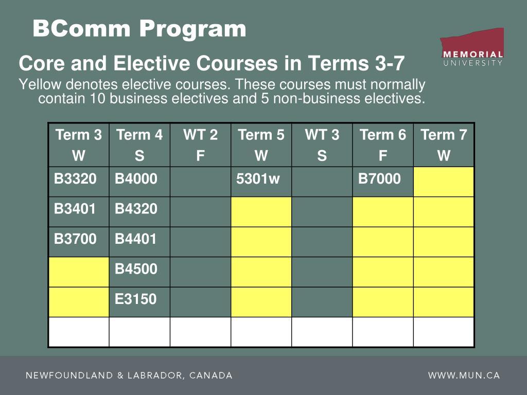BComm Program