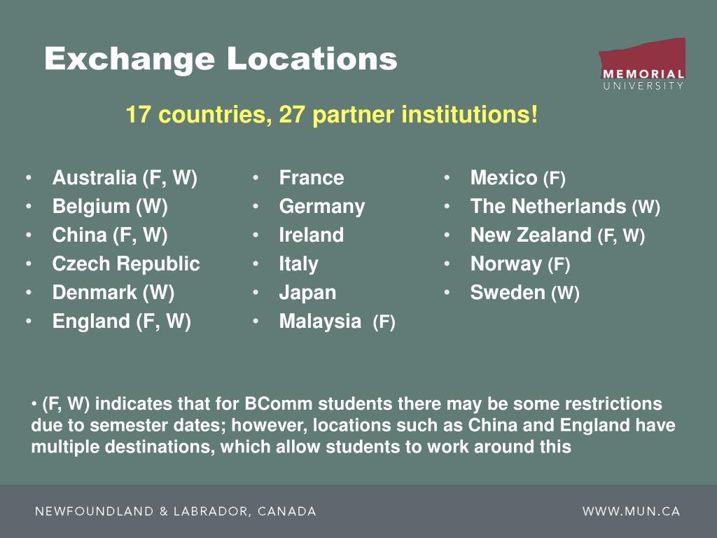 Exchange Locations