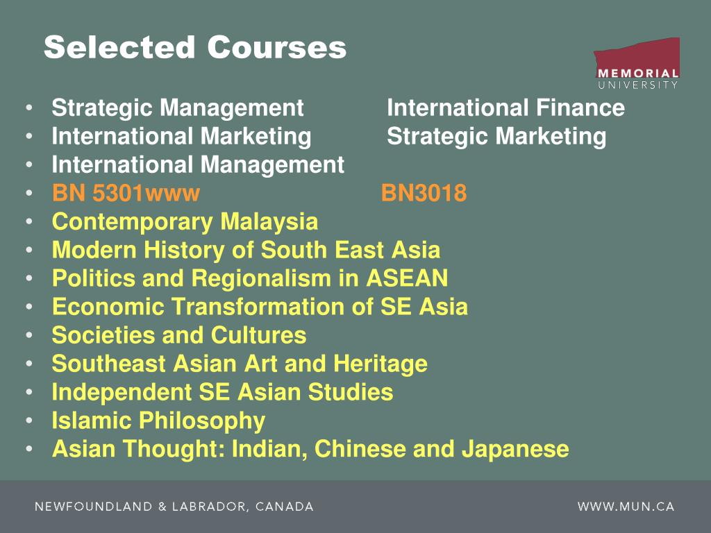 Selected Courses