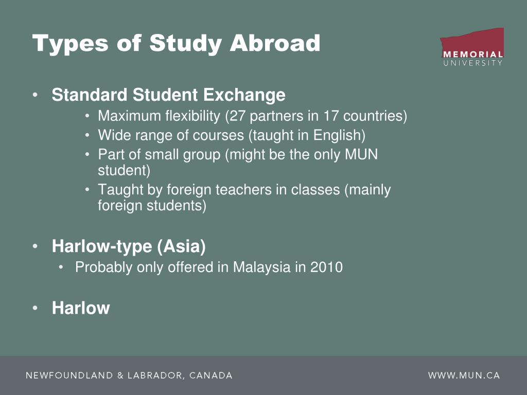 Types of Study Abroad