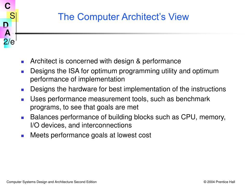The Computer Architect's View
