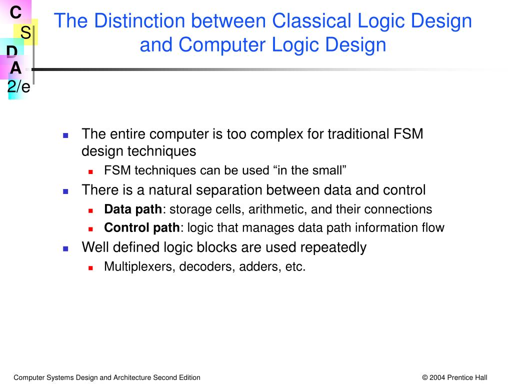 The Distinction between Classical Logic Design and Computer Logic Design