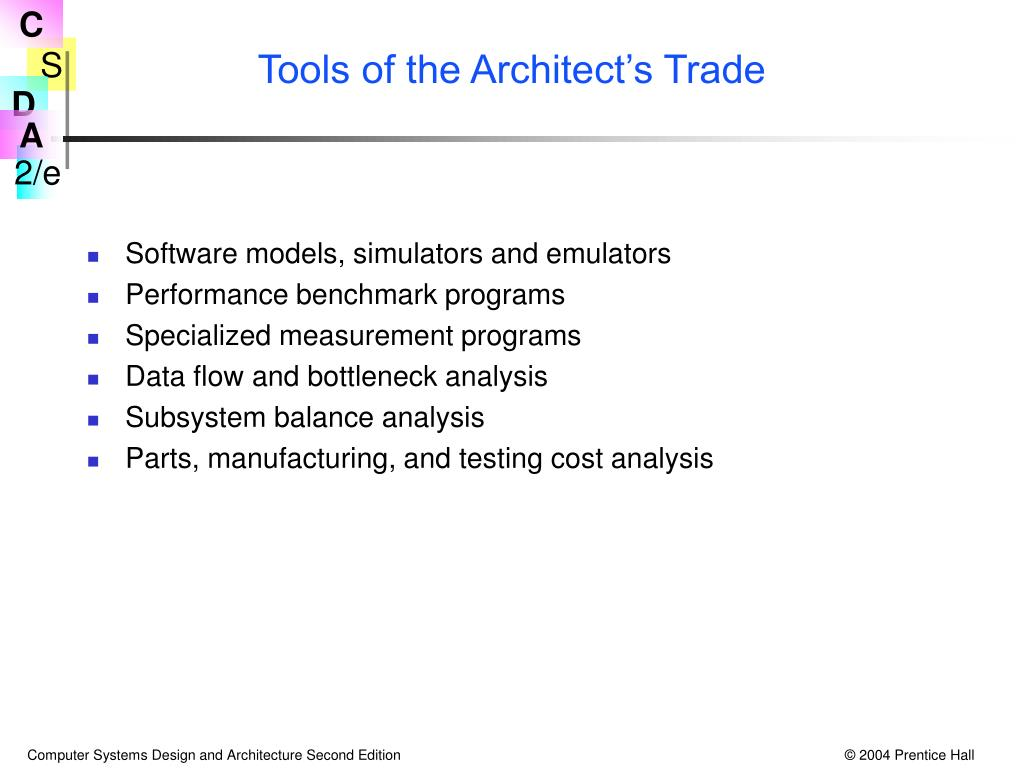 Tools of the Architect's Trade
