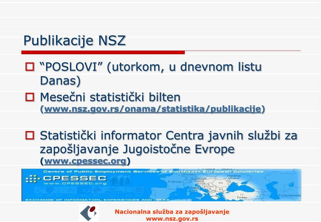 Publikacije NSZ