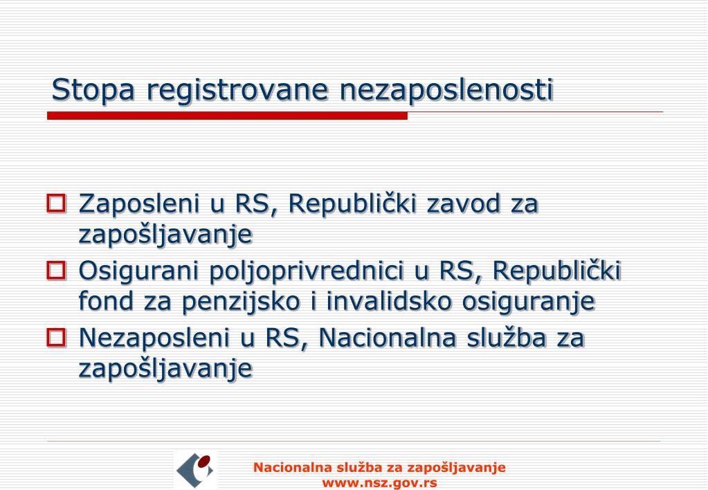 Stopa registrovane nezaposlenosti