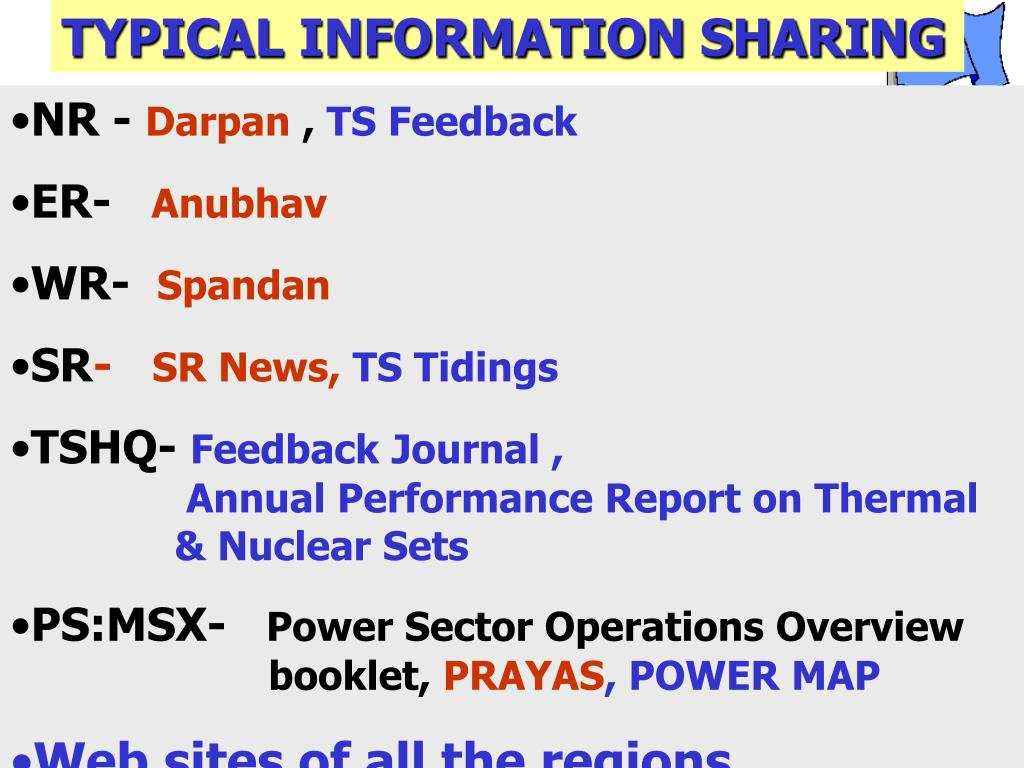 TYPICAL INFORMATION SHARING