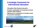 a strategic framework for international education