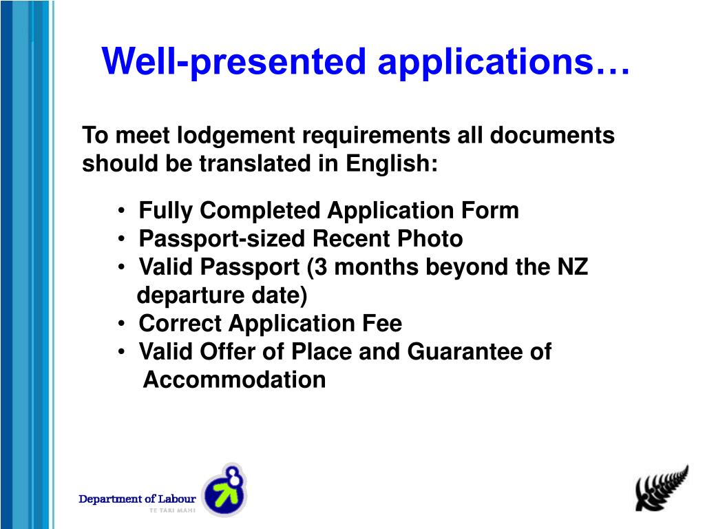 Well-presented applications…