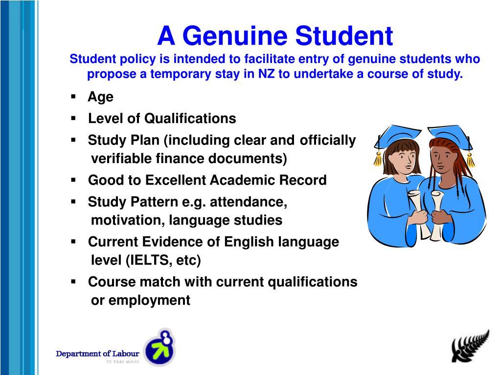 A Genuine Student