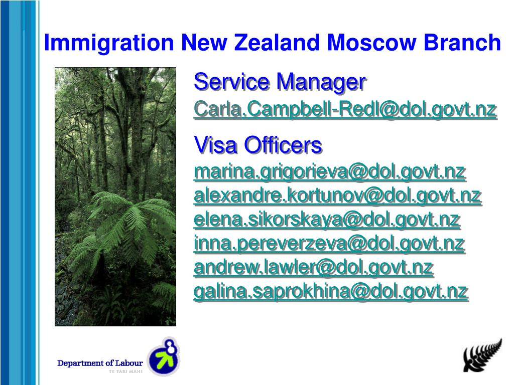 Immigration New Zealand Moscow Branch