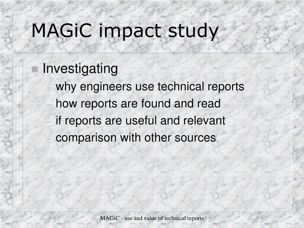 MAGiC impact study