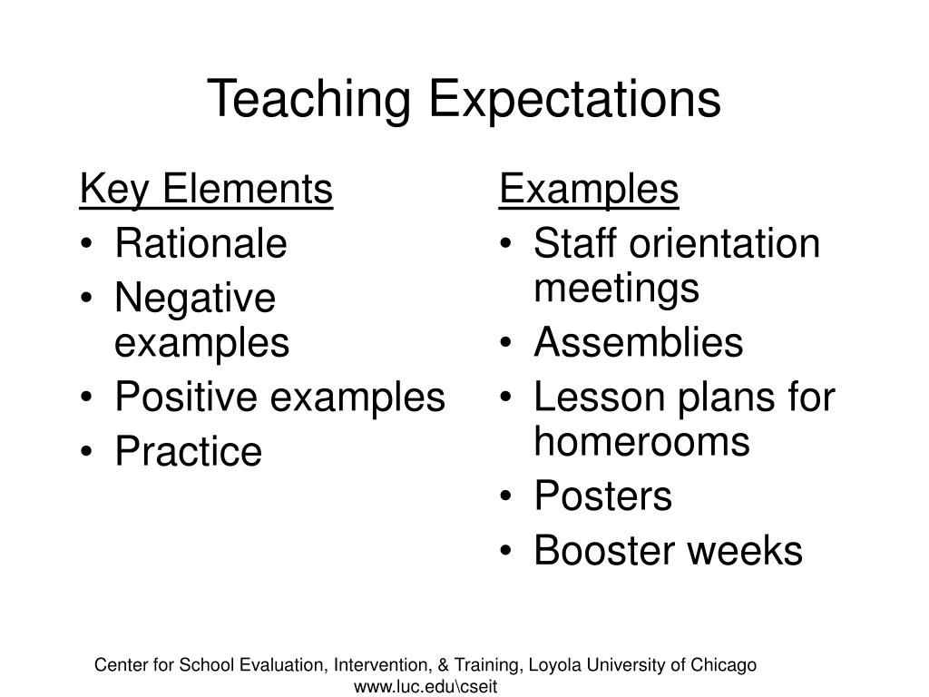 Teaching Expectations