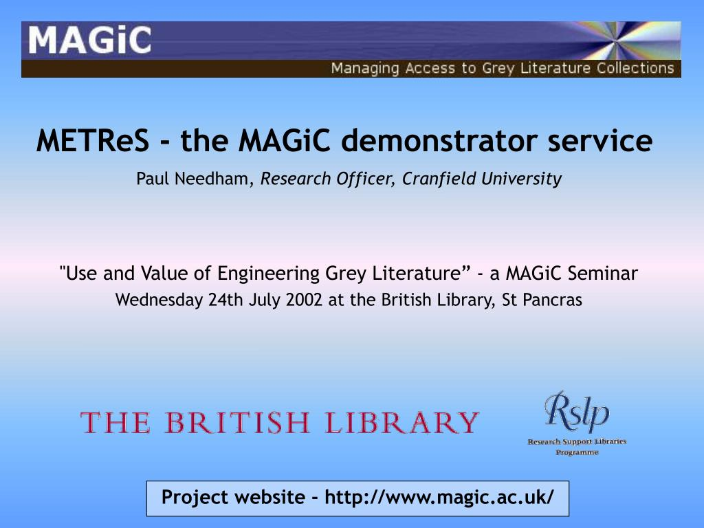 METReS - the MAGiC demonstrator service