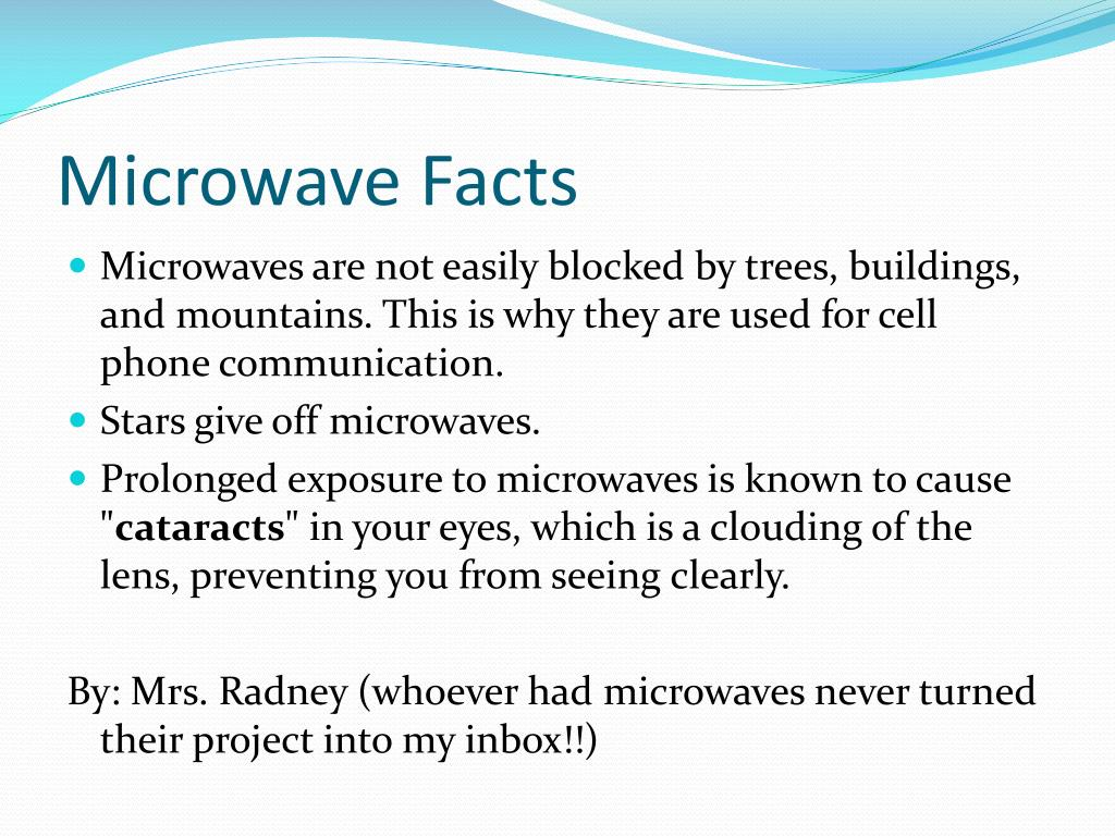 Microwave Facts