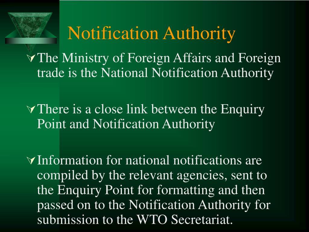 Notification Authority