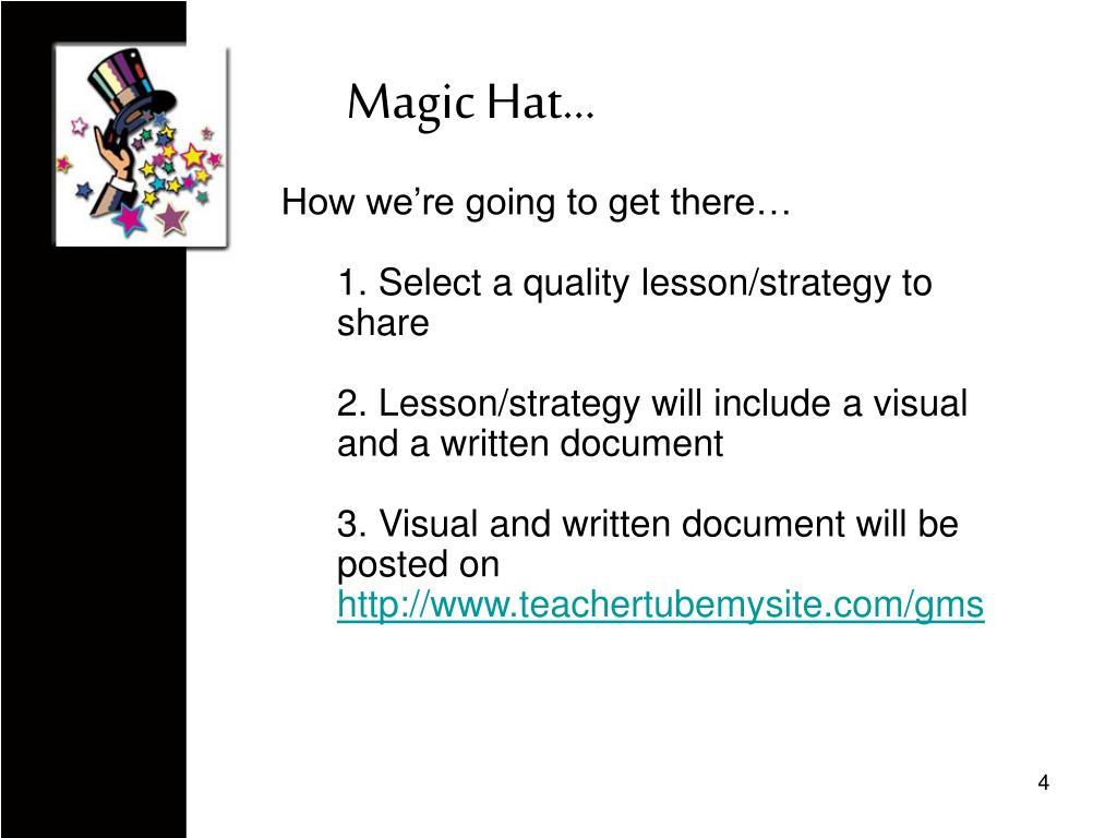 Magic Hat…