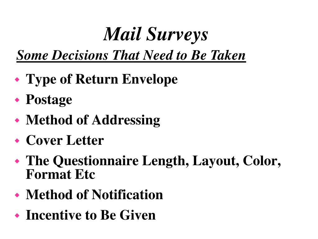 Type of Return Envelope