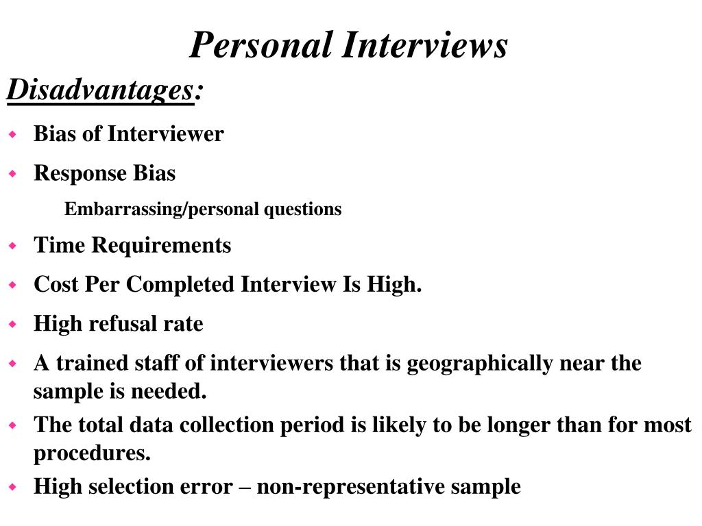 Bias of Interviewer