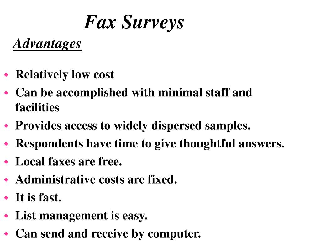 Fax Surveys