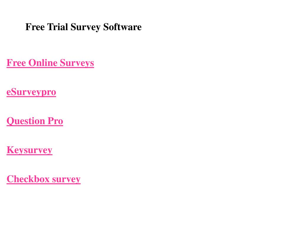 Free Trial Survey Software