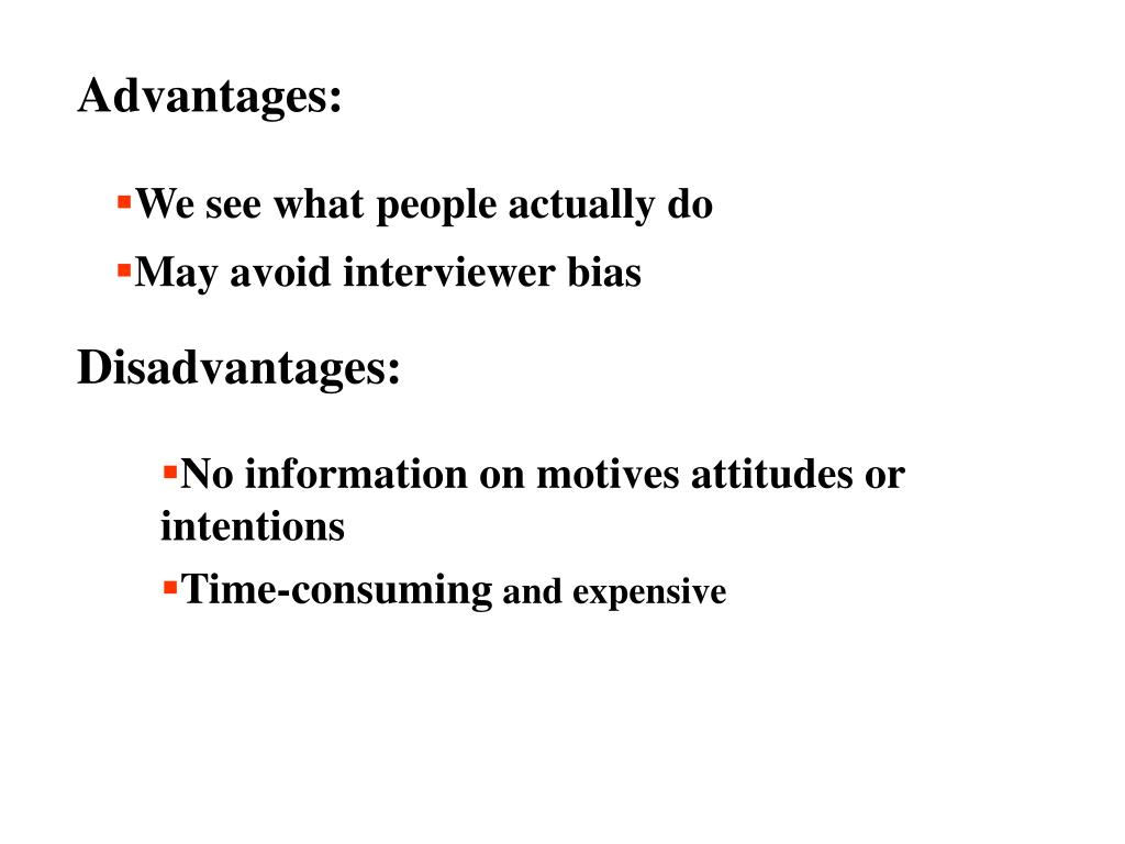Advantages: